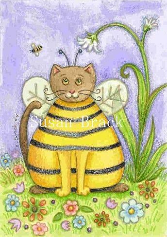 Art: MY CAT BUZZ by Artist Susan Brack
