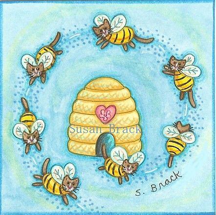 Art: RING OF BUMBLECATS  Original Motif by Artist Susan Brack