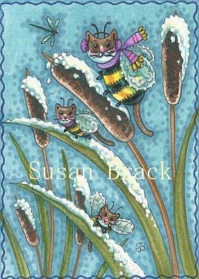 Art: BUMBLECAT WINTER by Artist Susan Brack