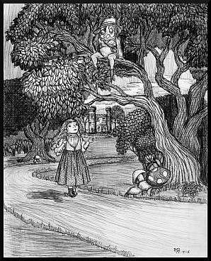 Art: The Girl and the Man in the Tree by Artist Madeline  Carol Matz