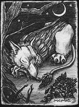 Art: The Griffin Sleeps Tonight by Artist Madeline  Carol Matz