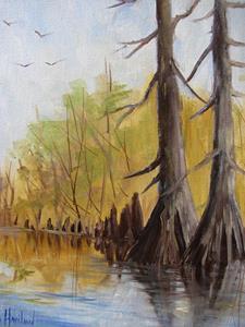 Detail Image for art Ken's Cypress Trees