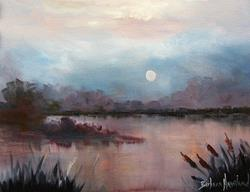 Art: Nightshades of a Marsh by Barbara Haviland by Artist Barbara Haviland