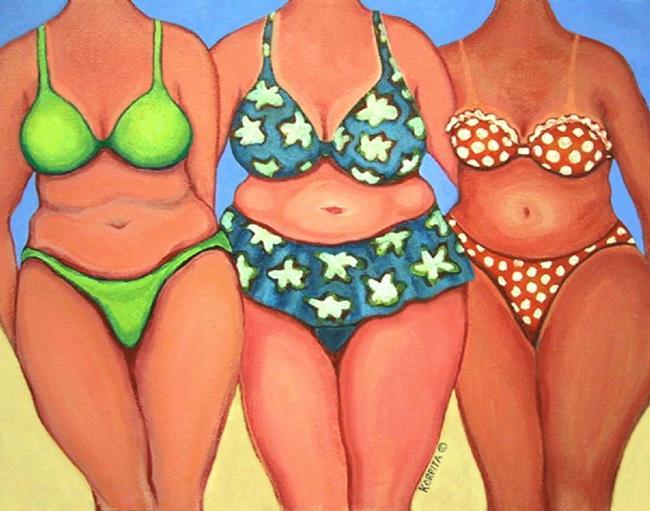 Art: Beach Babes by Artist Rebecca Stringer Korpita