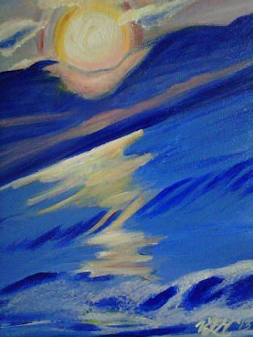 Art: Beach Sunrise by Artist Vic Ki Lynn