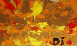 Art: Golden Sunrise  SOLD by Artist Di  Wendy Peel