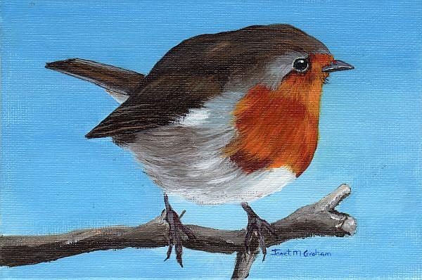 Art: Little Robin by Artist Janet M Graham