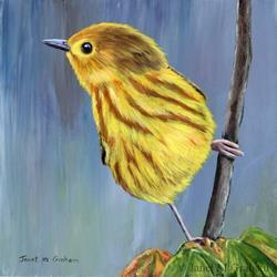 Art: Yellow Warbler 2 by Artist Janet M Graham