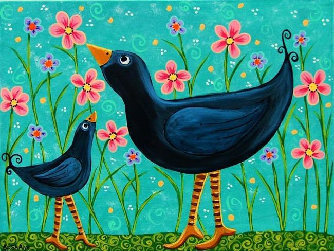 Art: Birds of a Feather by Artist Cindy Bontempo (GOSHRIN)