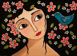 Art: Blue Bird by Artist Cindy Bontempo (GOSHRIN)