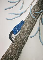 Art: Frosty Acrobat by Artist Jackie K. Hixon