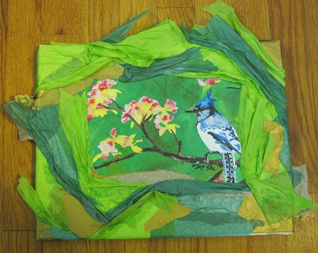 Art: Blue Jay by Artist Vic