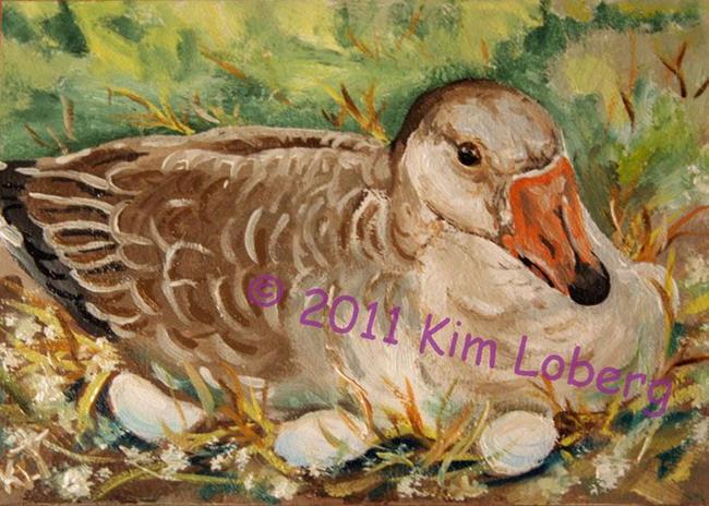 Art: Her Nest Runneth Over by Artist Kim Loberg
