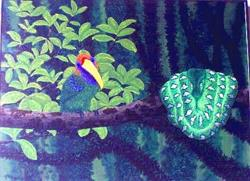 Art: Emeralds of the Forest  (SOLD) by Artist Jackie K. Hixon