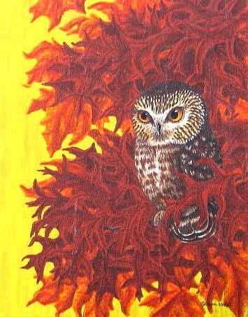 Art: Autumn Secret (SOLD) by Artist Jackie K. Hixon