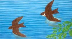Art: On Thy Dewy Wings by Artist Jackie K. Hixon