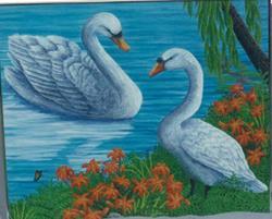 Art: Stratford Swans by Artist Jackie K. Hixon