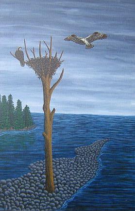 Art: Seahawk Nest by Artist Jackie K. Hixon