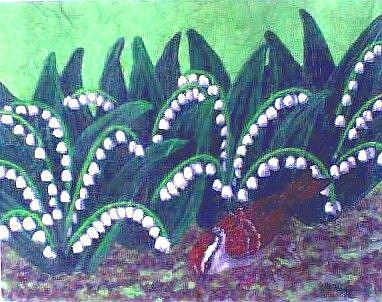 Art: White Bells(SOLD) by Artist Jackie K. Hixon