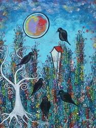 Art: Crows In Waiting by Artist Juli Cady Ryan