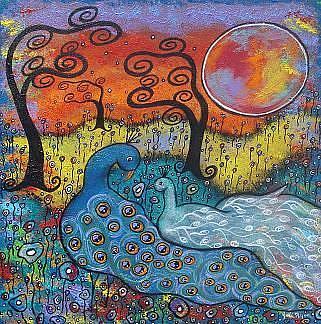 Art: Enchanted Peacocks by Artist Juli Cady Ryan