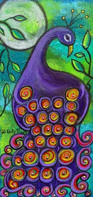 Art: Purple Peacock by Artist Juli Cady Ryan