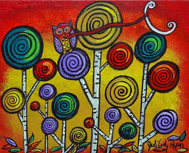 Art: Owl Lassos Moon by Artist Juli Cady Ryan