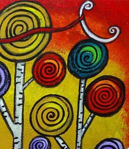 Detail Image for art Owl Lassos Moon