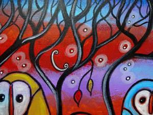 Detail Image for art The Owl Family