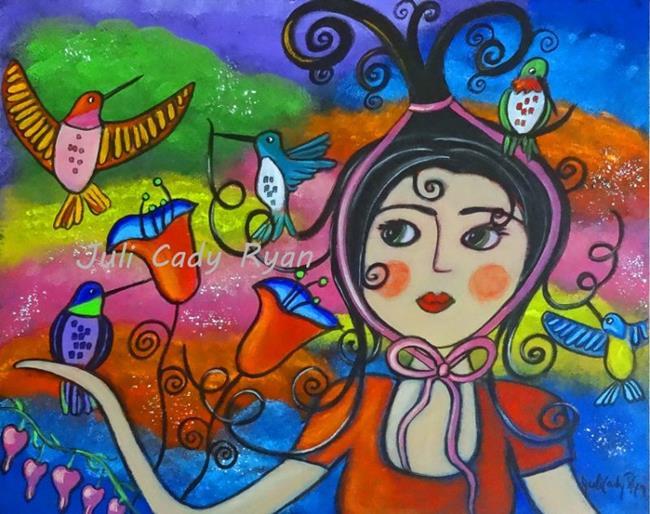 Art: For The Love Of Hummingbirds by Artist Juli Cady Ryan