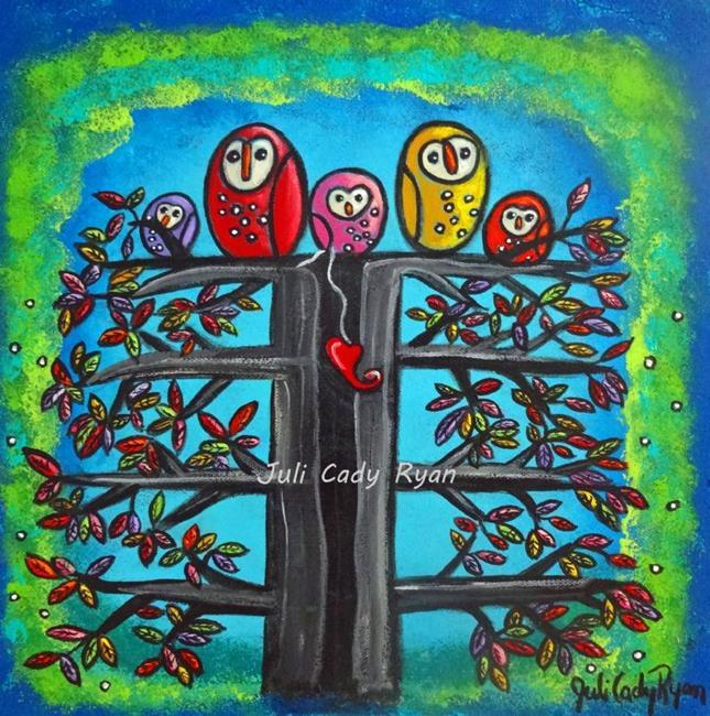Art: The Owl Family II by Artist Juli Cady Ryan