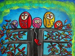 Detail Image for art The Owl Family II
