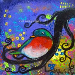 Art: Bird IV~Purple Song by Artist Juli Cady Ryan