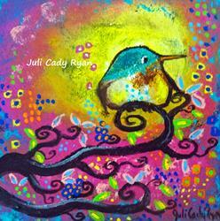 Art: Bird I ~Pink Morning by Artist Juli Cady Ryan