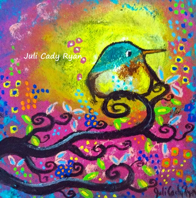 Art: Bird I ~Pink Morning by Artist Juli Cady Ryan