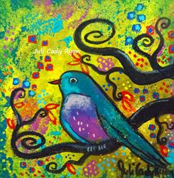 Art: Bird V~Golden Sunrise by Artist Juli Cady Ryan