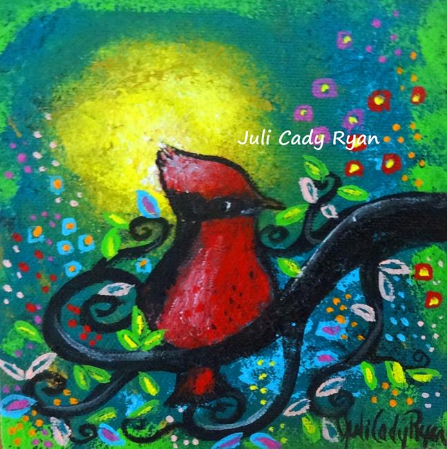 Art: Bird II~Early Riser by Artist Juli Cady Ryan