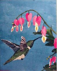 Art: Hummingbird by Artist Dia Spriggs