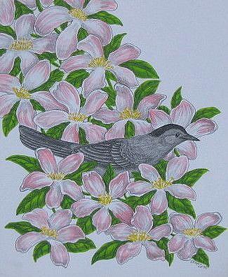 Art: Catbird Seat (SOLD) by Artist Jackie K. Hixon