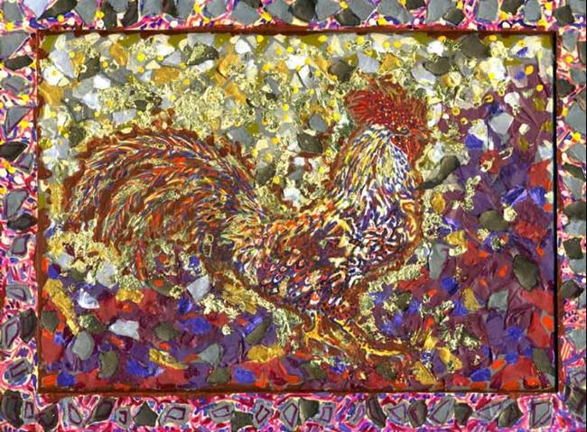 Art: Rocky Rooster - sold by Artist Naquaiya