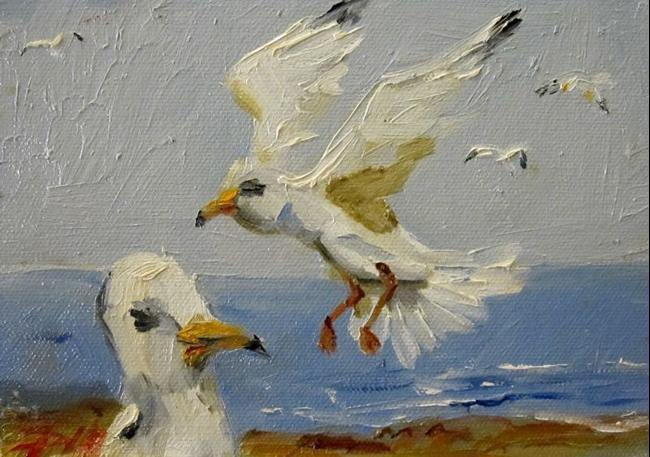 Art: Gulls by Artist Delilah Smith