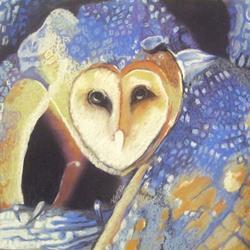 Art: Barn Owl 2 by Artist Vic