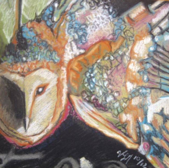 Art: Barn Owl by Artist Vic