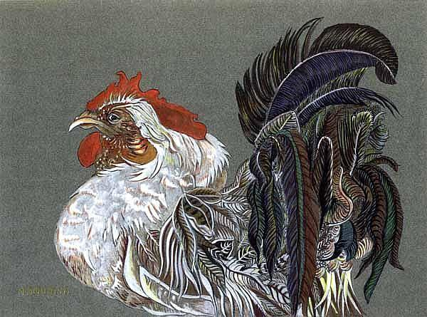 Art: Rooster With Attitude by Artist Naquaiya