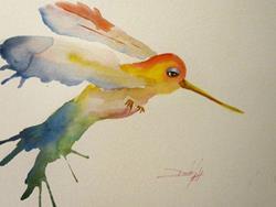 Art: Hummingbird No. 2 by Artist Delilah Smith