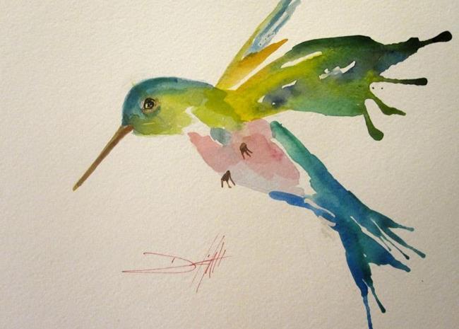 Art: Hummingbird No.3 by Artist Delilah Smith