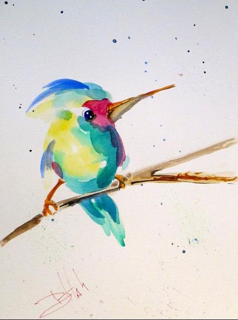 Art: Hummingbird by Artist Delilah Smith