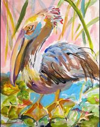 Art: Brown Pelican No. 2 by Artist Delilah Smith