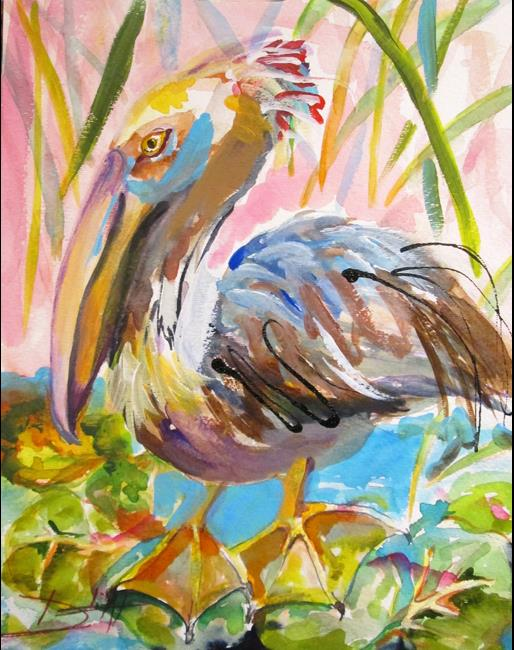 Art: Brown Pelican No.2 by Artist Delilah Smith