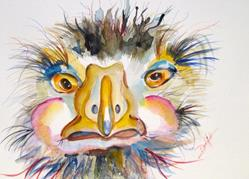 Art: Ostrich by Artist Delilah Smith
